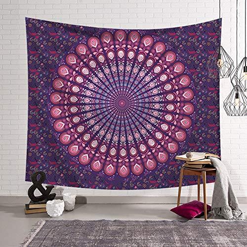 Mandala tapiz bohemia reina sirena cartel hippie colcha arte gitano tapiz telón de fondo tela A5 73x95cm