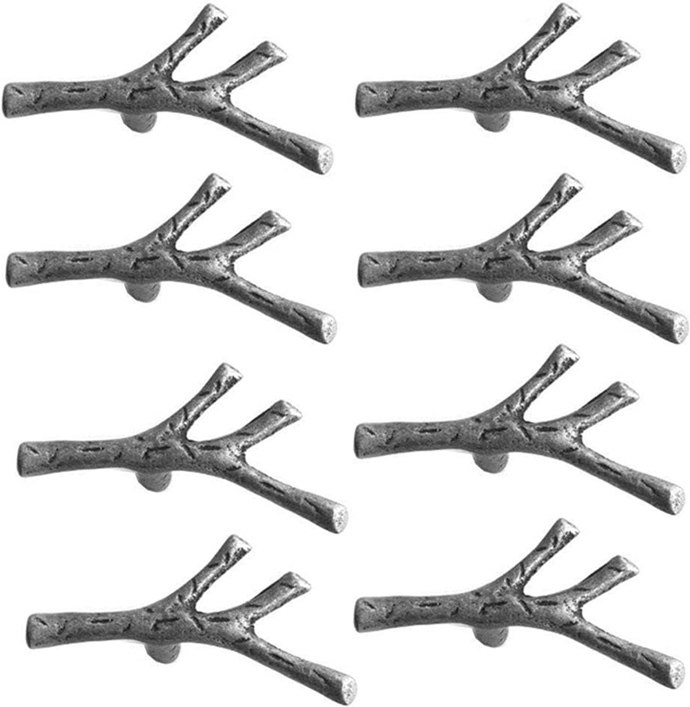 AILIUQIAN 8 Pack Twig Branch Cabinet Knobs Cheap bargain Tr Austin Mall Vintage Alloy Zinc