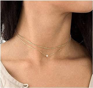 Mooinn Pearl Choker Necklace-Pearl Bracelet-Dainty Necklace Cultured Freshwater Pearl Choker Jewelry for Women