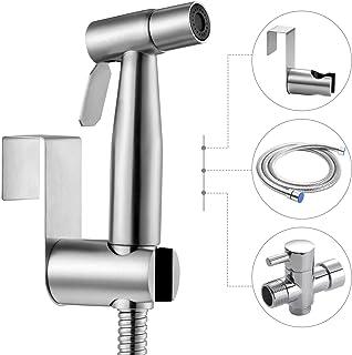 PERZCARE Handheld Bidet Sprayer for Toilet,Stainless Steel Bathroom Bidet Sprayer Set,Spray Attachment with Hose for Feminine Wash, Baby Diaper Cloth Washer Cleaner and Shower Sprayer for Pet