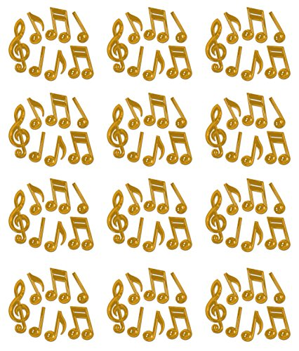 Pack of 84 Plastic Musical Notes