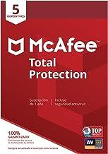 McAfee Total Protection - Antivirus | 5 Dispositivos | Suscripción de 1 año | PC/Mac/Android/Smartphones| Código de activación por correo
