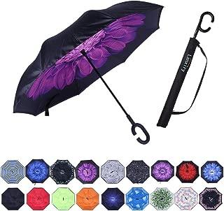 Umbrella,Large Double Layer Inverted Big C-Shaped Handle Reverse Long Umbrellas