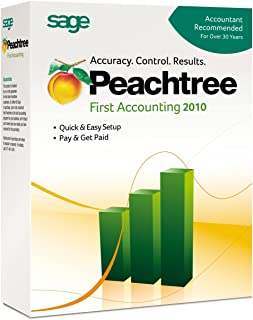 Sage Peachtree First Accounting 2010 Software for PC - Manage Your Business Finances Efficiently!