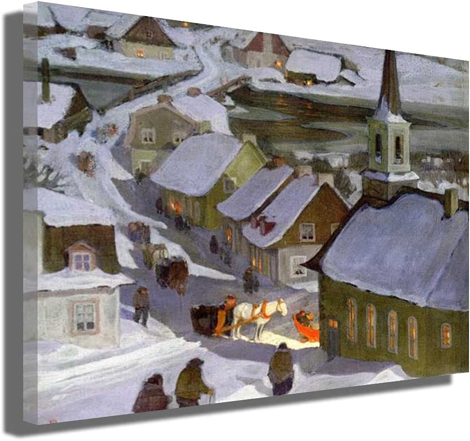 Clarence Gagnon Midnight Mass Milwaukee Mall Canvas Branded goods Wrapped Art Pri Wall
