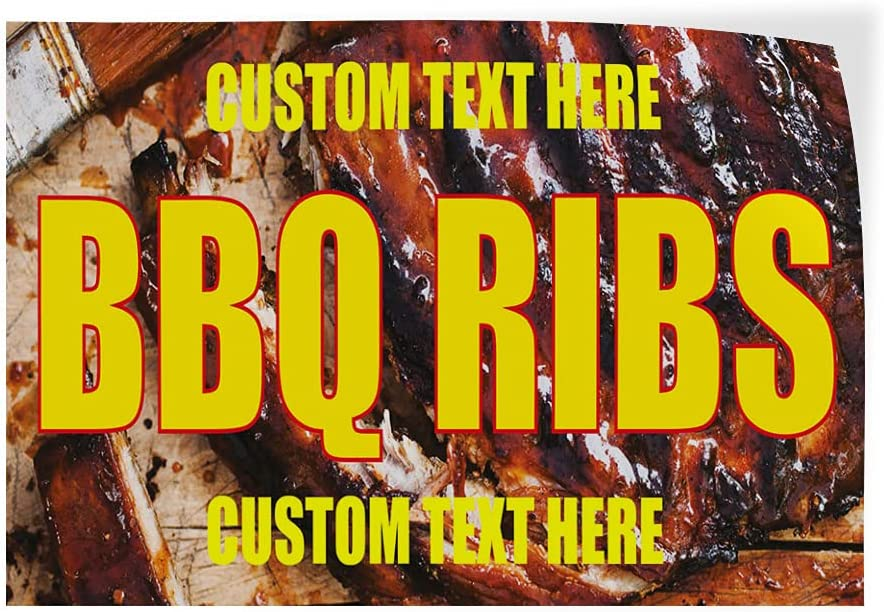 Custom Decal Stickers Mesa Mall Multiple Nippon regular agency Sizes BBQ Ribs #1 Outdoor Adverti