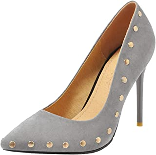 Melady Women Shoes Fashion Rivets Pumps Stiletto High Heels