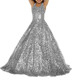 Girls Silver Sparkly Lurex Dress Kids Party Dresses Brand New Age 5-13 Years