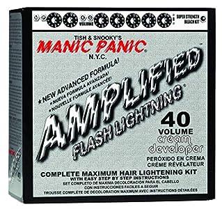 Manic Panic - Flash Lightning Bleach Kit 40 Volume Box Kit Vegan Cruelty Free Hair Bleach 1.3 oz of powder, 4 oz of developer