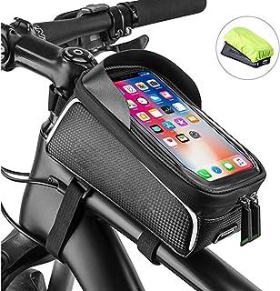 Bicycle Bag, Mobile Phone Bag, Front Frame Bag, Cell Phone Frame Bag, Mobile Phone Case Fixing Frame, Riding Upper Tube Fr...