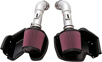 K&N Cold Air Intake Kit with Washable Air Filter:  2008-2020 Nissan/Infiniti (370Z, G37) 3.7L V6, Polished Metal Finish with Red Oiled Filter, 69-7078TS