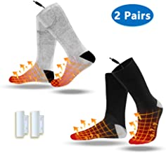 VALLEYWIND Heated Socks, Electric Sock Footwear with Pair Rehargeable Lithium Battery Cotton Heated Socks Keep Forefoot and Toes Warm Heating Times Last 5-9 Hours Suitable Outdoor Hunting