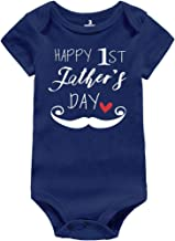 Rixin Happy Father's Day Bodysuits for Newborn Infant Boys Cotton Clothes,First Daddy Gifts