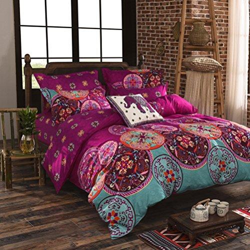 Stillshine - Juego de cama elegante, estilo bohemio, funda de edredón, ligero, de microfibra, poliéster, Style # 9, 220 x 240 cm