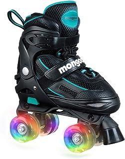 اسکیت های غلتکی Mongoose برای دختران قابل تنظیم با چرخ های سبک تا متوسط مبتنی بر اسکیت ها خطوط تفریحی سرگرم کننده برای کودکان