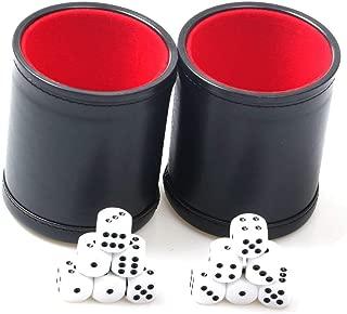 Runic Cube Gobelet de Cuir-Noir