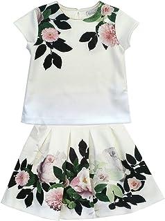 Patachou Floral Top & Skirt Set