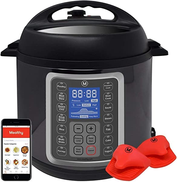 Mealthy MultiPot 9 In 1 Programmable Pressure Cooker 6 Quarts With Stainless Steel Pot Steamer Basket Instant Access To Recipe App Pressure Cook Slow Cook Saut Rice Cooker Yogurt Steam