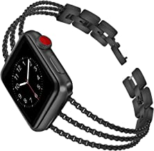 Biaoge Metal Band Compatible for Apple Watch Band Series 4 40mm 44mm/ iWatch Series 3 2 1 38mm 42mm, Adjustable Stainless ...