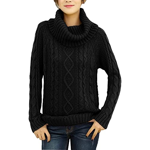 v28 Women s Korean Design Turtle Cowl Neck Ribbed Cable Knit Long Sweater  Jumper 6afc5b5bc