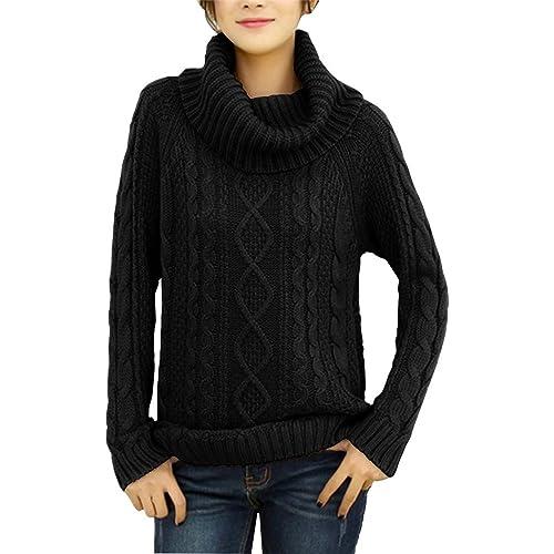 51f79cc5d8e v28 Women s Korean Design Turtle Cowl Neck Ribbed Cable Knit Long Sweater  Jumper