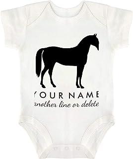 VinMea Baby Onesie Personalized Equestrian Horse Riding Baby Bodysuit Funny Newborn Onesie Bodysuit in 5 Sizes - S