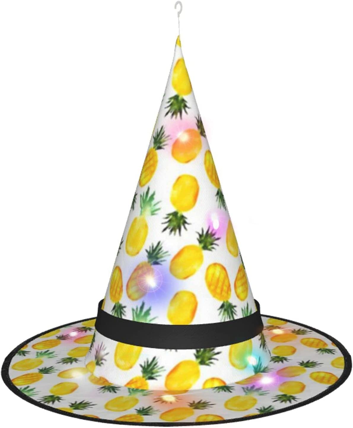 Watercolor Pineapples Halloween Witch Hat Party L Led Selling Ranking TOP9 Decoration