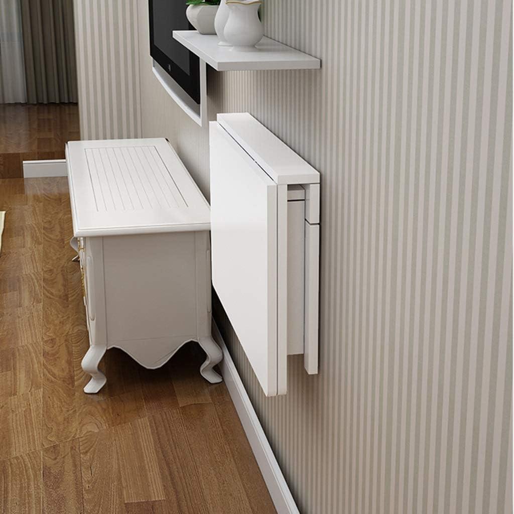 YUMUO Table de Bureau Pliante Blanche avec Plateau (Dimensions: 60 * 40 cm) 4