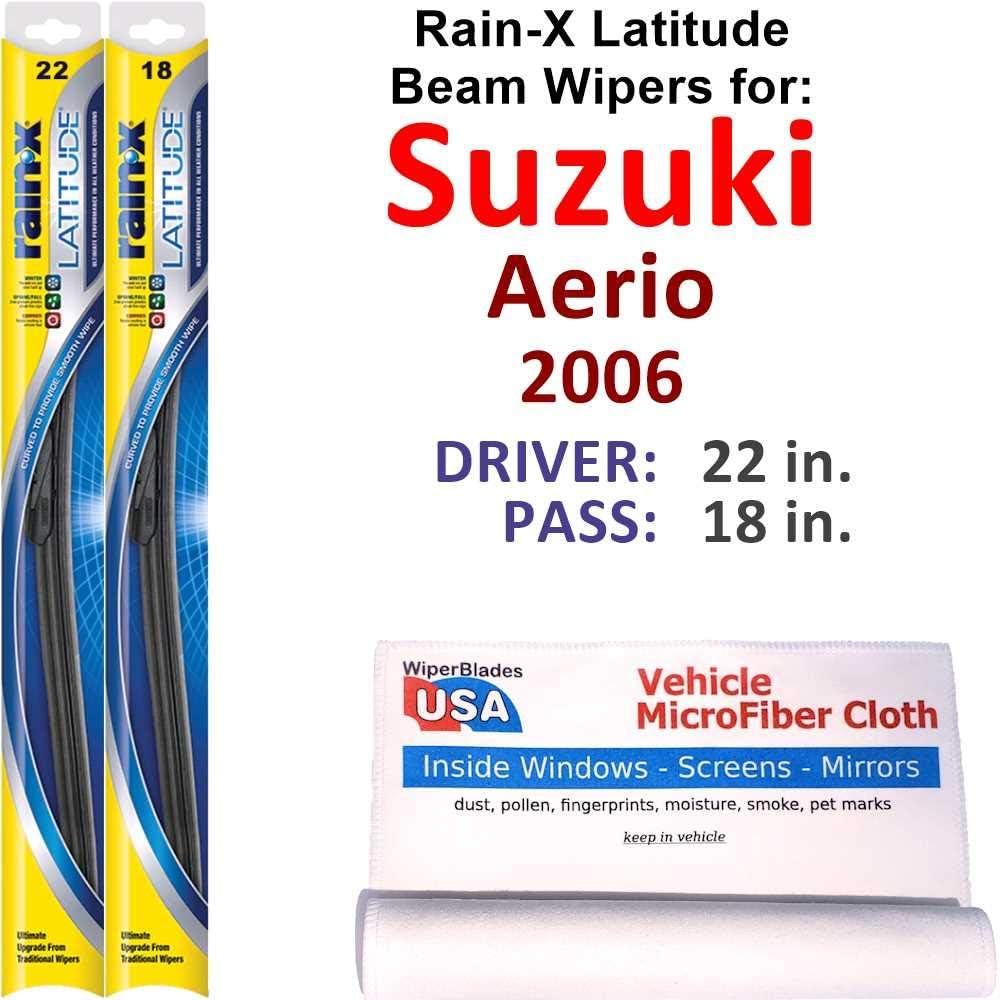 Rain-X Latitude Beam Max 64% OFF Wiper Blades for Fixed price sale 2006 Aerio Rain Suzuki Set