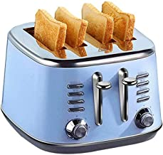 JYDQT Bread Machine-Brushed and Polished Stainless Steel Four Slice Toaster, Household Blue 412 * 368 * 280mm