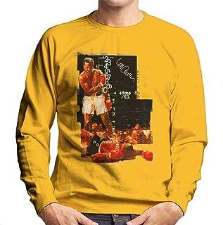 VINTRO Muhammad Ali Sonny Liston Knockout Men's Sweatshirt Original Portrait by Sidney Maurer Professionally Printed