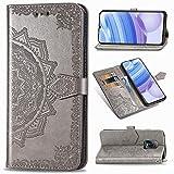heyb cover oneplus nord n100 custodia,premium vera pelle flip custodia a libro portafoglio telefono con magnetica per oneplus nord n100 smartphone