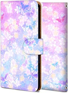 Galaxy A7 2018 ケース 手帳型 ギャラクシー A7 2018 カバー スマホケース おしゃれ かわいい 耐衝撃 花柄 人気 純正 全機種対応 和風-桜の蝶 フラワー クラシック 12114545