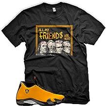 New DEAD PRESIDENTS T Shirt for Jordan 14 XIV Yellow Ferrari Carmelo 13