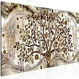 murando Quadro Albero Klimt 200x80 cm 5 pezzi Stampa su tela in TNT XXL Immagini moderni Murale Fotografia Grafica Decorazione da parete Abstrait l-C-0005-b-n