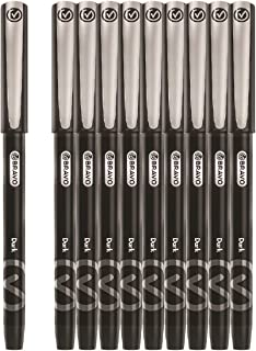 Bravo Dark Ballpoint Pen - Pack of 10, Black