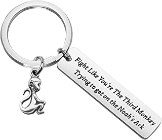 Monkey Keychain Fight Like You're The Third Noah's Ark Inspired Life Survivor Gift Inspiration Gift