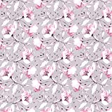 1m Baumwolljersey mit Blumen in rosa auf grau |