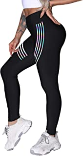 Women's Fitness High Waist Slimming Yoga Legging Running Sports Black Compression Pants