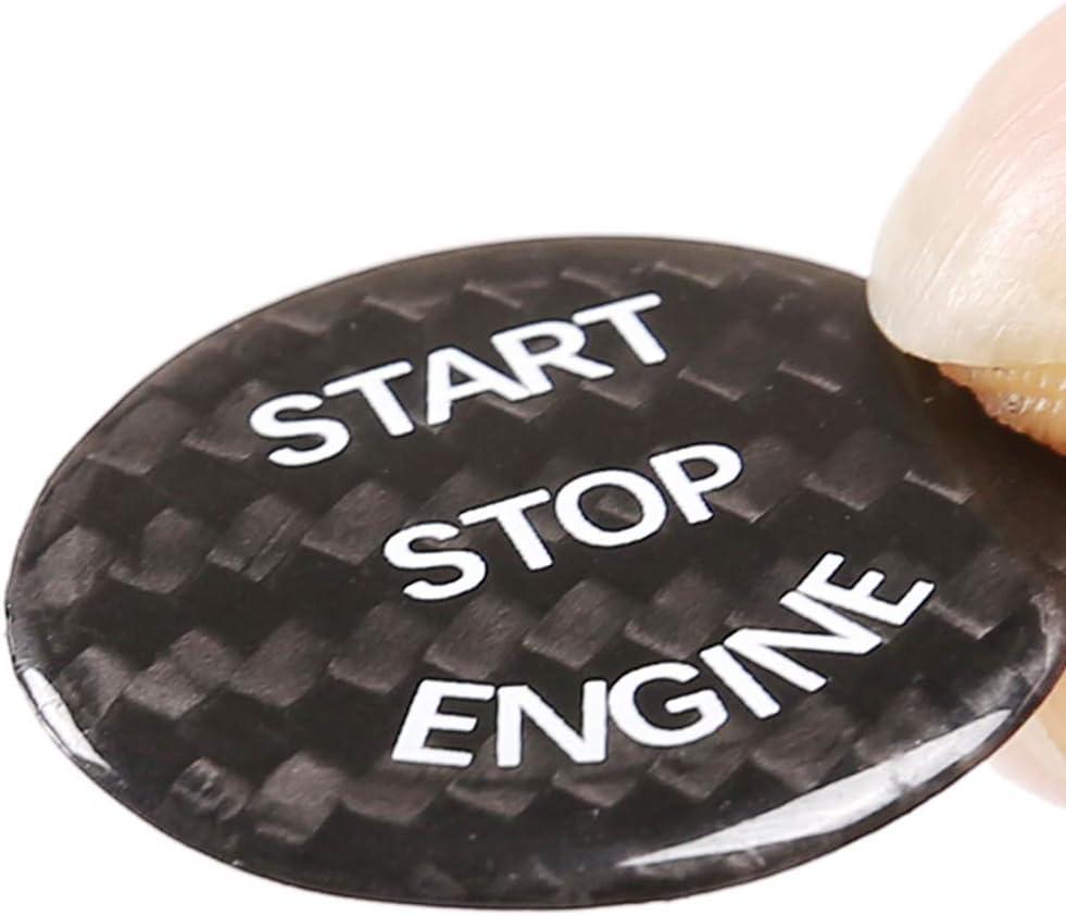 Real Carbon Fiber Car Engine Start Stop Switch Button Cover Trim For X5 E70 X6 E71 E72 E81 E87 E90 E91 E92 E93 E60 E83 E84 E89 Carbon Fiber