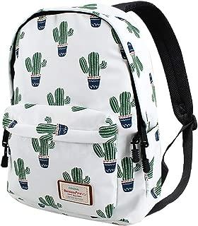 Van Caro Unisex Waterproof Large School Backpack Cactus Travel Rucksack