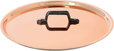 INOCUIVRE Copper Stainless Steel Lid 6.25-Inch with a cast iron handle