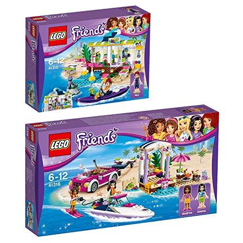 Lego Friends 2er Set 41315 41316 Heartlake Surfladen + Andreas Rennboot-Transporter