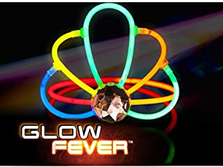 Glow Fever Bulk 12ct Glow Sticks Tiara Crowns, Princess Girls Kids Hair Band Hair Accessories, Wedding Rave Festivals Glow Party Supplies(Mixed)