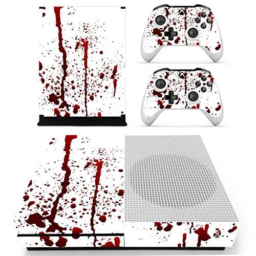 DOTBUY Xbox ONE S Design Folie Vinyl Aufkleber für Konsole + 2 Controller + Kamera Sticker Skin Set (Blood)
