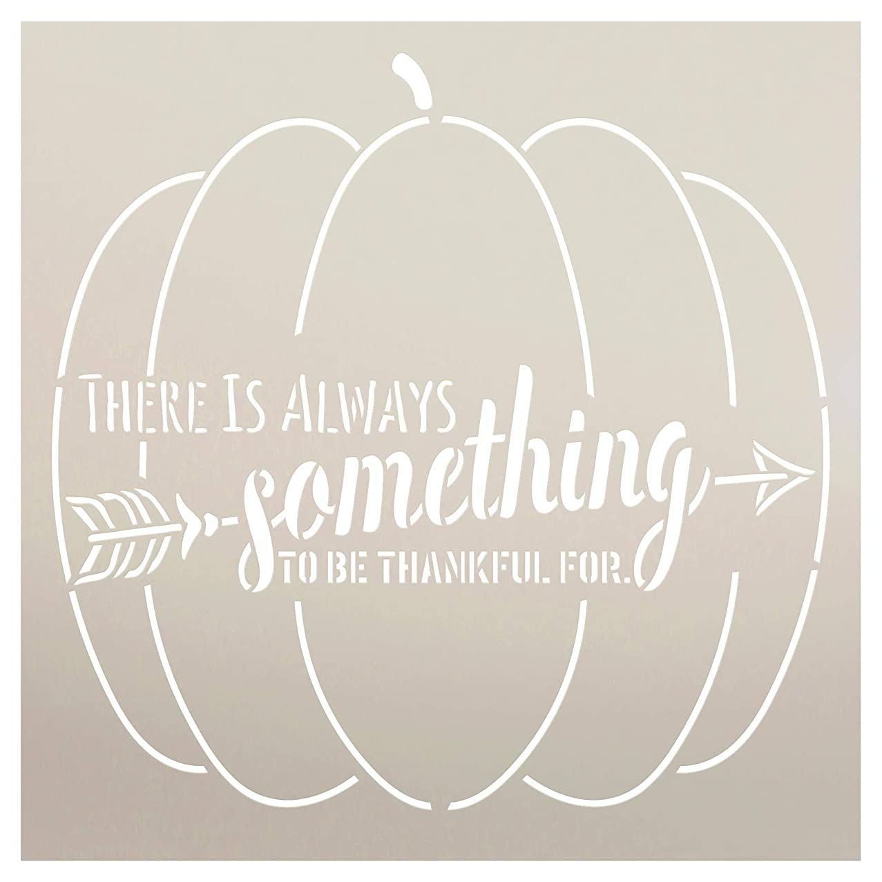 There is Always Something to Be Thankful for Pumpkin Stencil by StudioR12 | Wood Sign | Word Art Reusable | Thanksgiving Holiday | Painting Chalk Mixed Multi-Media | DIY Home - Choose Size (9