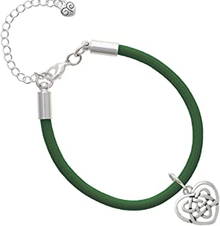 Delight Jewelry Celtic Knot Heart Malibu Paracord Bracelet