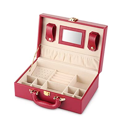 Cozzine Jewelry Box, Quilted Leather Jewelry Or...