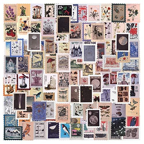 276 fogli Adesivo per scrapbooking Adesivo Carta Adesivo per francobolli vintage Adesivo sigillante Adesivi per pianificatore Decorazione retrò per notebook Diario diari Fai da te Arti (Antique)