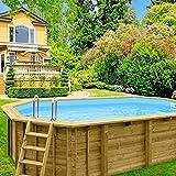 Piscina in legno DOMINGO 2 607x395x131 cm legno nordico piscine giardino arredo madelux